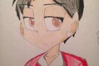 "Brandon Brooks ""Self-Portrait Anime"""