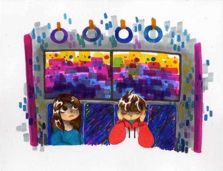 Riding on Train with Autistic Brother <br> Carissa Pacarelli
