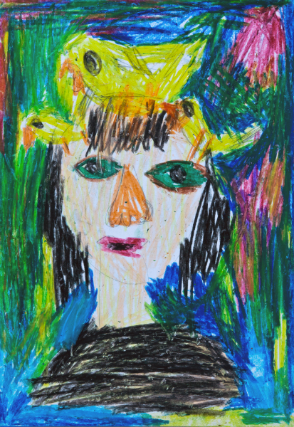 Elad Finkelstein Girl With Bird on Head