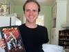 Calvin Nye with comic book