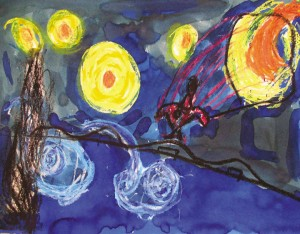 "Maximus Oberto ""Starry Starry Night and Spiderman"""