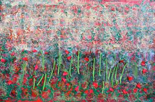 """Trent Altman """"An Abstract Flower Garden II"""""""