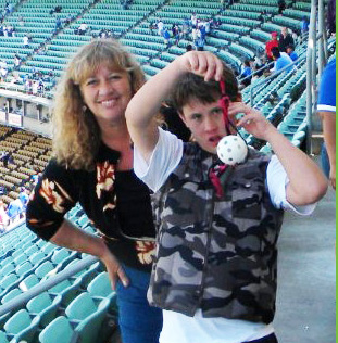 Kelly Green with Wyatt