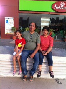 Jaspal with daughters Arpit and Amrit