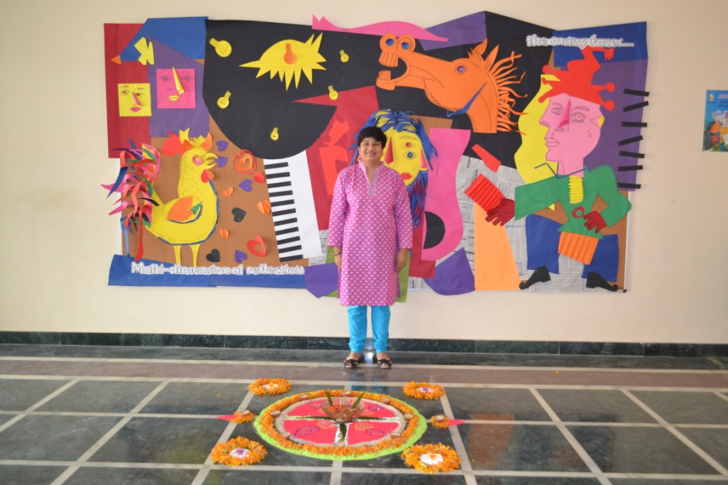 Amrit Khurana autistic artist from Noida India expresses herself