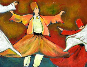 Sometimes I paint 'happy' things. I'm a whirling dervish at heart, after all.