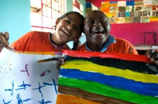 Two students of Harambee Arts