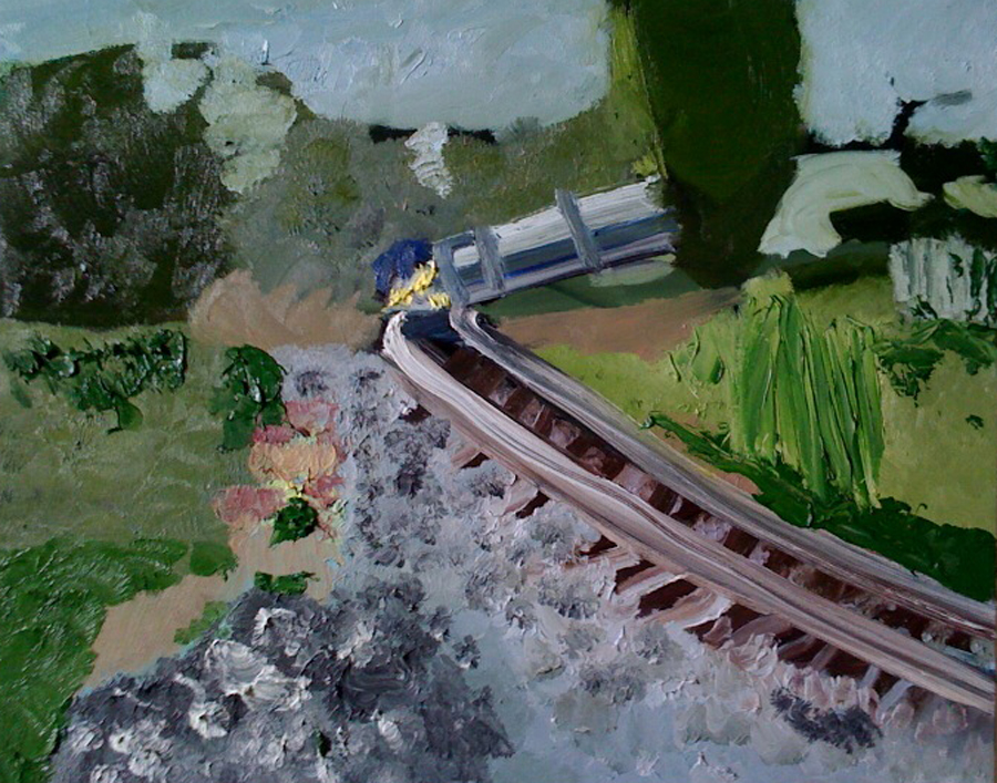 """Kevin Hosseini """"Fast Train"""" was on display at Union Station in Washington D.C."""