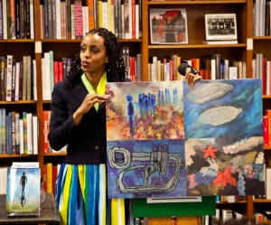 Author Morowa Yejide featured artists from The Art of Autism at a book signing