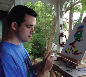 Owen Painting Courtesy of Life, Animated website