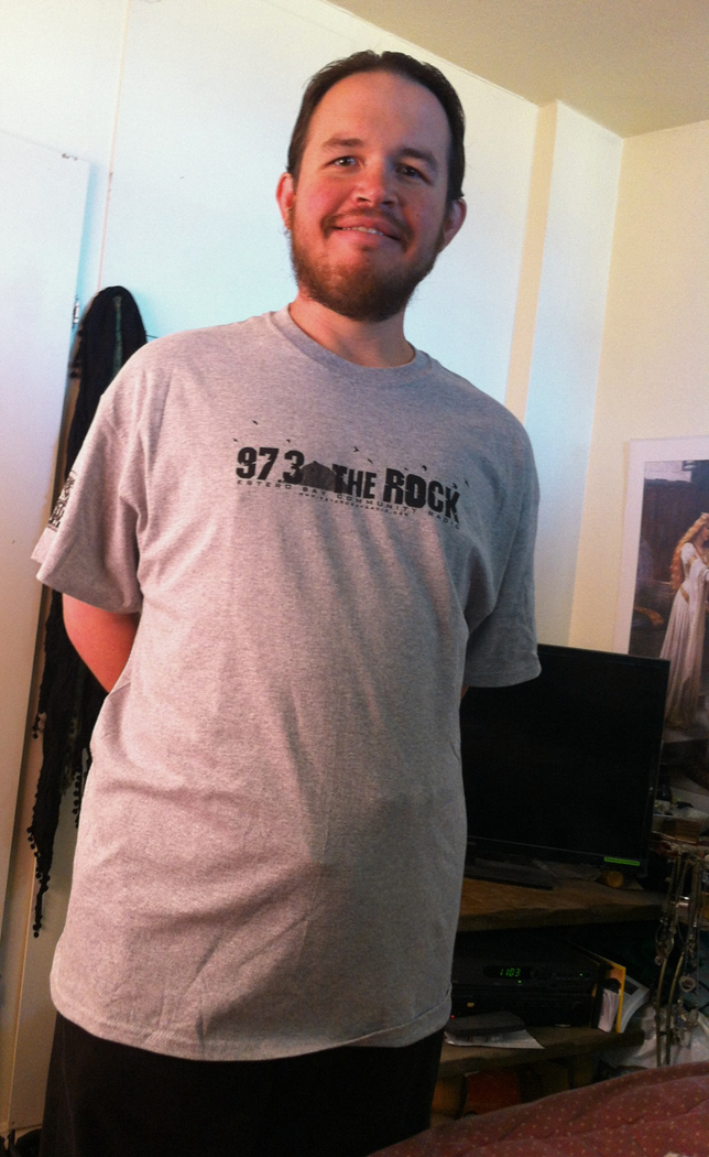 Jason DJ shirt for 97.3 The Rock