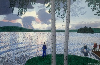 """James W. Cook """"Storm Clouds  on Nosbonsing Lake"""""""