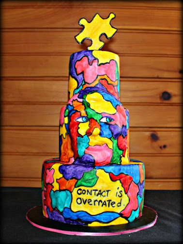 Laura Peterson cake inspired by artwork of Stefanie Sacks