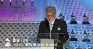 Royer accepting Grammy