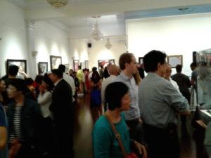 people enjoying art