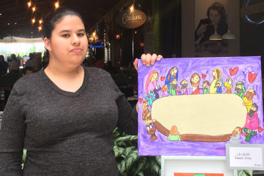 Daniela Urrea with art